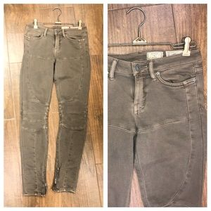 $60 All SAINTS Vintage Brown Skinny Jeans 25